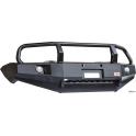 Бампер РИФ передний Mitsubishi L200 NEW 05+/Pajero Sport с доп. фарами и кенгурином