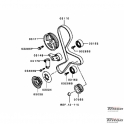 Комплект ГРМ для Pajero Sport new 2010 г.в. по н.в. с двигателями 4D56 DiD 136 и 178 л.с.