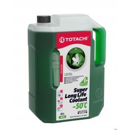 Жидкость охлаждающая низкозамерзающая TOTACHI SUPER LONG LIFE COOLANT Green -50C 4л