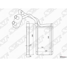 Радиатор отопителя салона MITSUBISHI L200 06-/PAJERO SPORT 08-